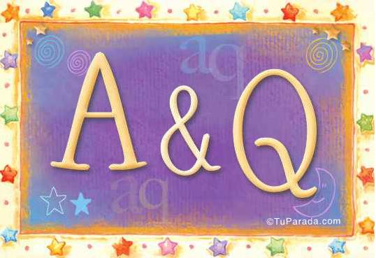 Tarjeta de iniciales A - Q