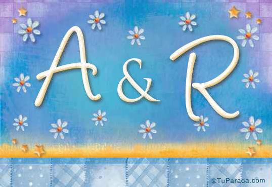 Tarjeta de iniciales A - R