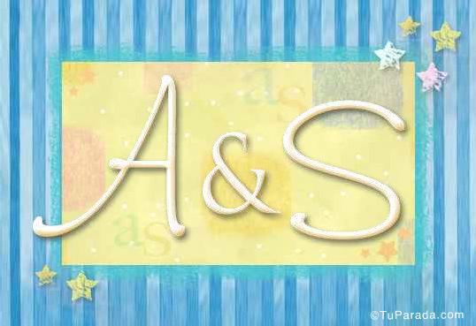 Tarjeta de iniciales A - S