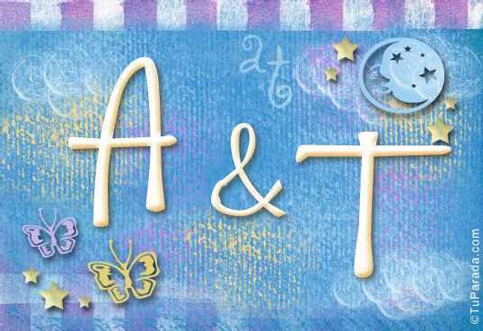 Tarjeta de iniciales A - T