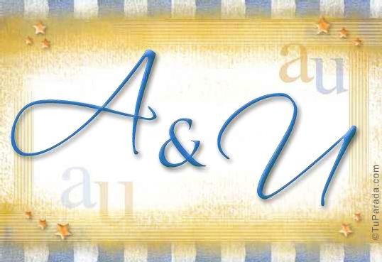 Tarjeta de iniciales A - U