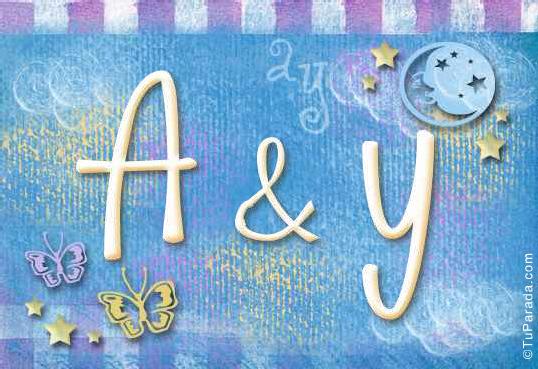 Tarjeta de iniciales A - Y