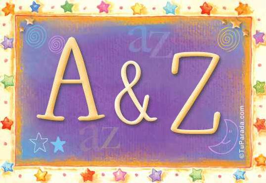 Tarjeta de iniciales A - Z