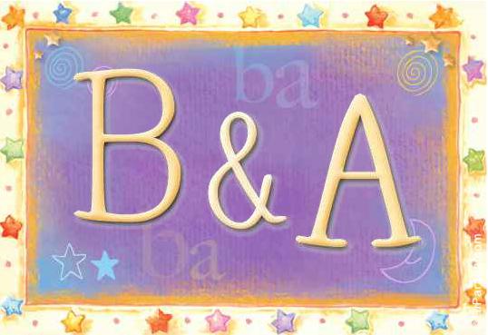 Tarjeta de iniciales B - A