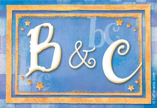 Tarjeta de iniciales B - C