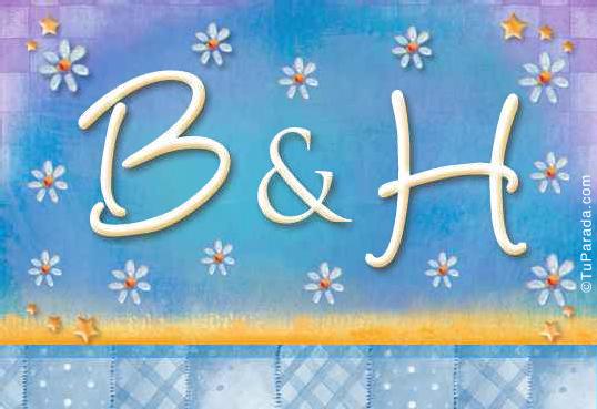 Tarjeta de iniciales B - H