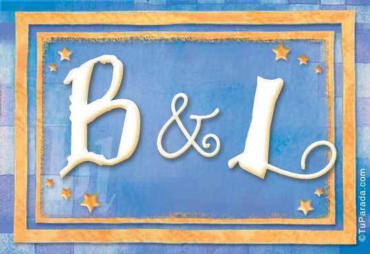 Tarjeta de iniciales B - L