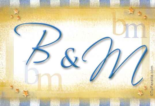 Tarjeta de iniciales B - M