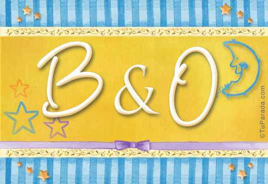 Tarjeta de iniciales B - O