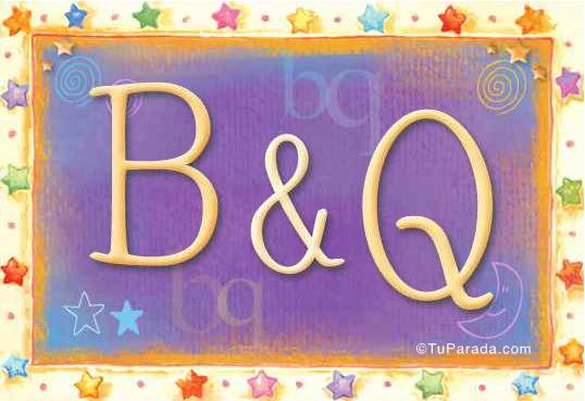 Tarjeta de iniciales B - Q