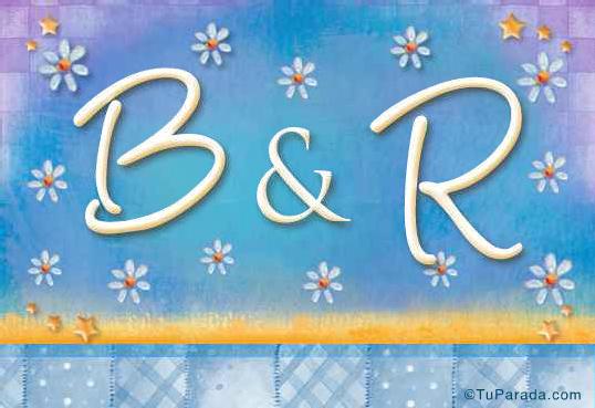 Tarjeta de iniciales B - R
