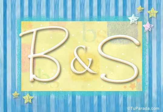 Tarjeta de iniciales B - S