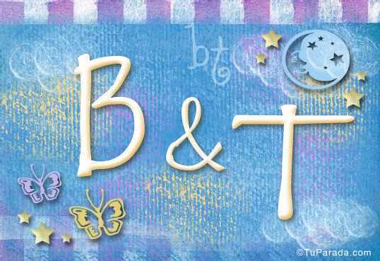 Tarjeta de iniciales B - T