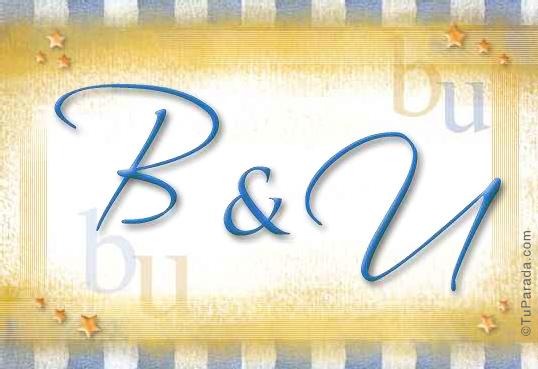 Tarjeta de iniciales B - U