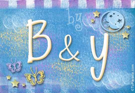 Tarjeta de iniciales B - Y