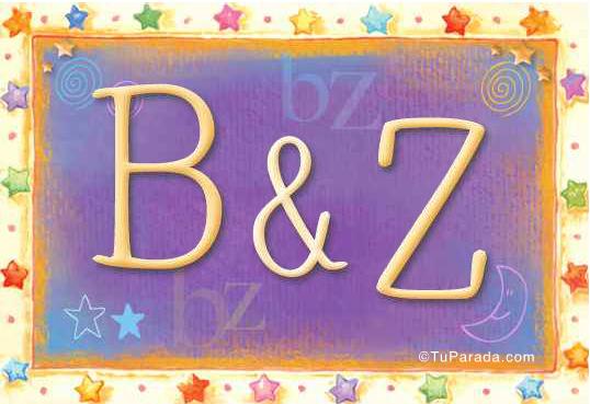 Tarjeta de iniciales B - Z