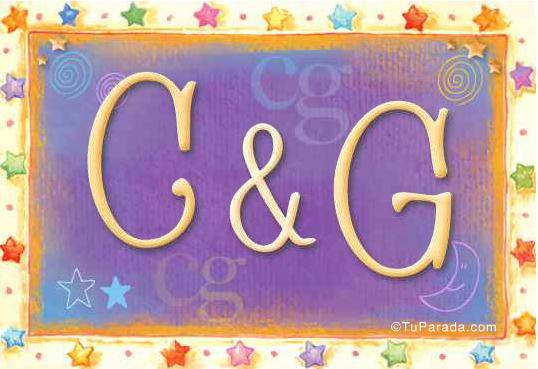 Tarjeta de iniciales C - G