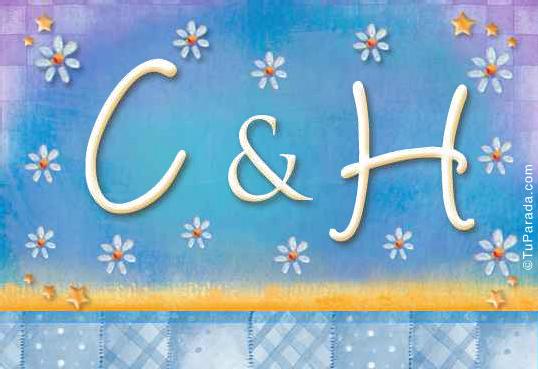 Tarjeta de iniciales C - H