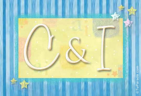 Tarjeta de iniciales C - I