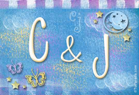 Tarjeta - Tarjeta de iniciales C - J