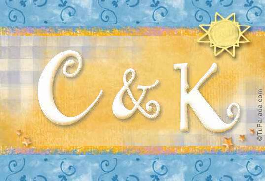 Tarjeta de iniciales C - K