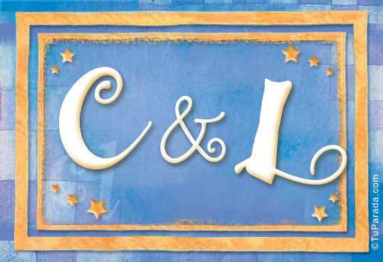 Tarjeta de iniciales C - L