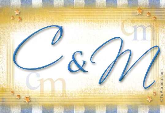 Tarjeta de iniciales C - M