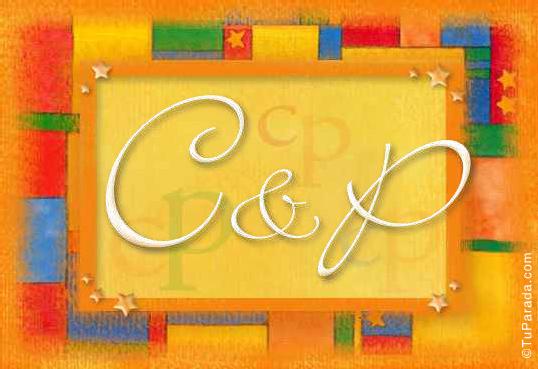 Tarjeta de iniciales C - P