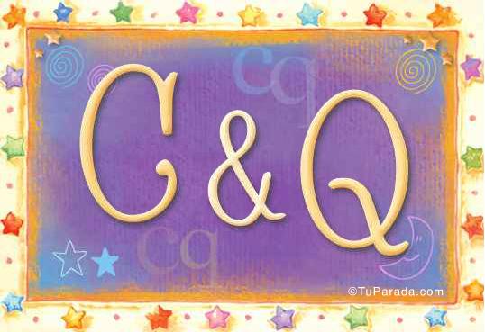 Tarjeta de iniciales C - Q