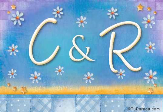 Tarjeta de iniciales C - R