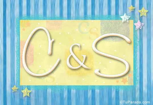 Tarjeta de iniciales C - S