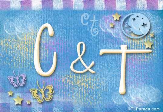 Tarjeta de iniciales C - T