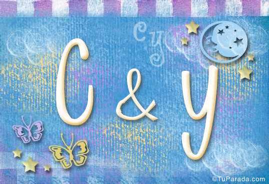 Tarjeta de iniciales C - Y