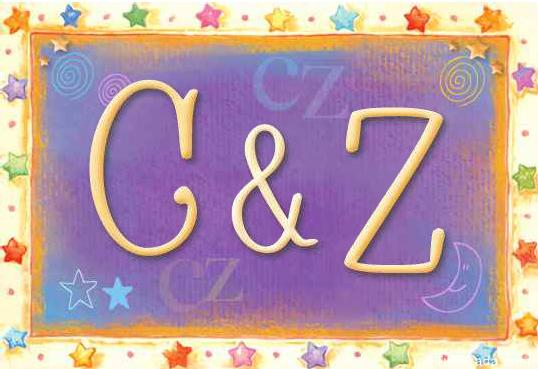Tarjeta de iniciales C - Z