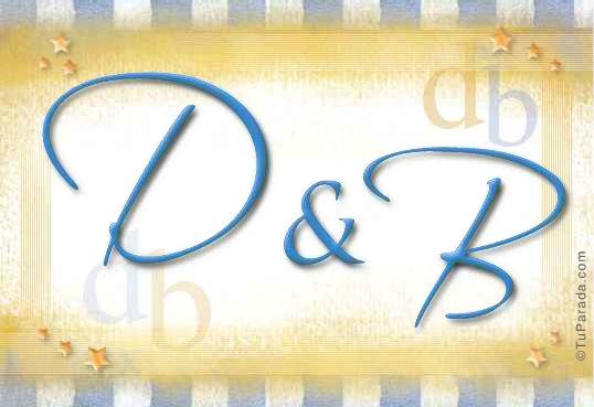 Tarjeta de iniciales D - B