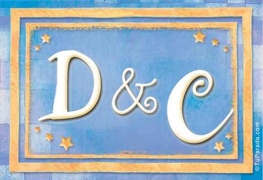 Tarjeta de iniciales D - C