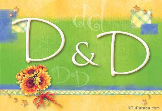Tarjeta de iniciales D - D
