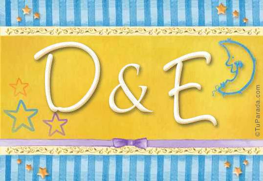 Tarjeta de iniciales D - E