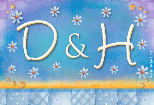 Tarjeta - Tarjeta de iniciales D - H
