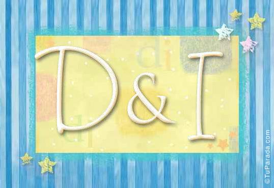 Tarjeta de iniciales D - I