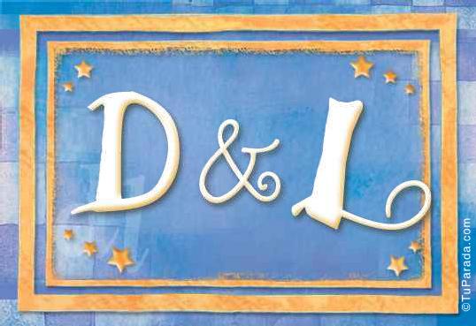 Tarjeta de iniciales D - L
