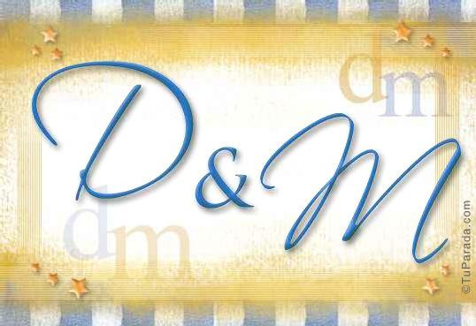 Tarjeta de iniciales D - M