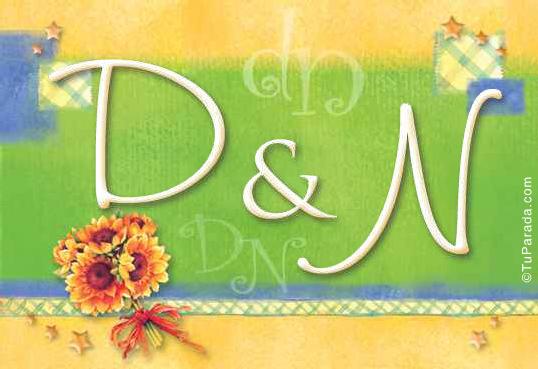 Tarjeta de iniciales D - N