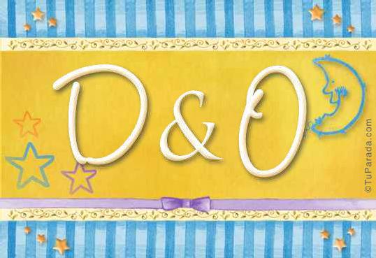 Tarjeta de iniciales D - O