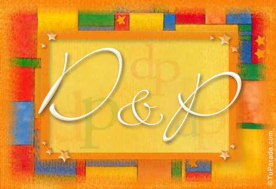 Tarjeta de iniciales D - P