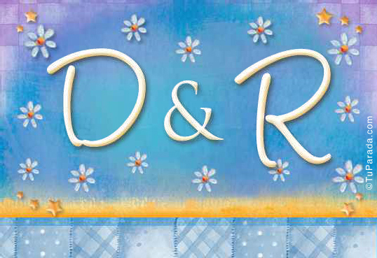 Tarjeta de iniciales D - R