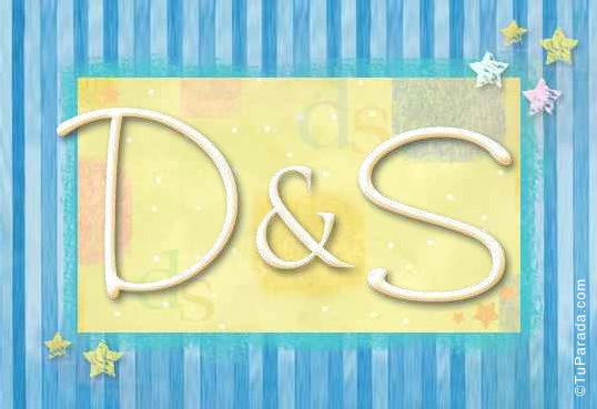 Tarjeta de iniciales D - S