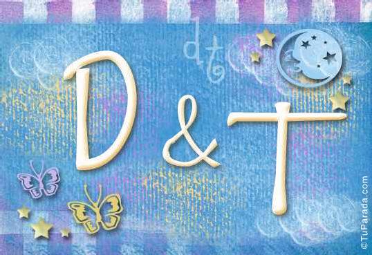 Tarjeta de iniciales D - T