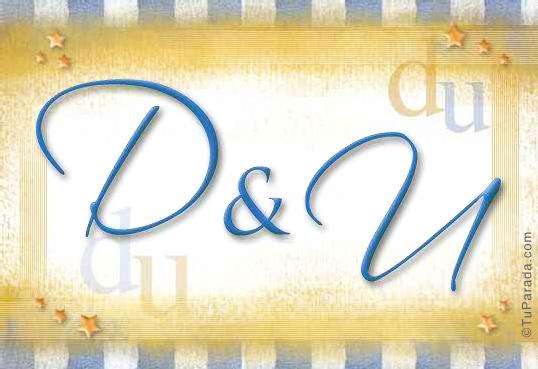 Tarjeta de iniciales D - U