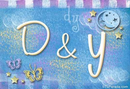 Tarjeta de iniciales D - Y